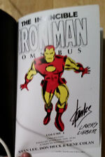 IRON MAN OMNIBUS VOL 1 RARE VARIANT HC 1ST PRINT SIGNED STAN LEE LARRY LIEBER
