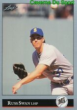 203   RUSS SWAN    SEATTLE MARINERS  BASEBALL CARD LEAF 1992