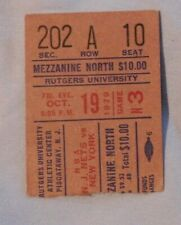 New York Knicks Vs New Jersey Nets Ticket Stub Oct 19 1979