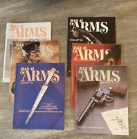 LOT 6 MAN AT ARMS Magazines Complete Year 1984 RIFLE HANDGUN SHOOTING SWORD NRA