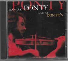 Jean-Luc Ponty - Live at Donte's ..1995 cd album