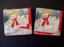 Christmas Holiday Dessert Beverage Napkins Polar Bear DesignWare North Pole 48ct