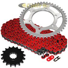 Red O-Ring Drive Chain & Sprocket Kit Fits YAMAHA FZ1 FZ1000 2006-2015