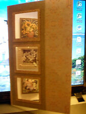 Handmade Decoupage Birthday Card blank insert  3 Windows with flowers inside