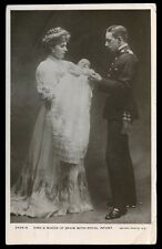 Royalty King and Queen of SPAIN and infant RP PPC 1907