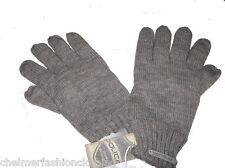 BNWT - 883 POLICE  Fleece Lined Knitted Wool Blend Winter Gloves  Grey