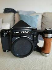pentax 67 body analog mittelformat Kamera mit Holzgriff