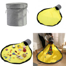 2 in 1 Portable Kids Baby Toy Storage Bag Play Mat Container Organizer Tidy