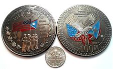 JONES ACT PUERTO RICO 1ra GUERRA MUNDIAL 1917 US Citizenship WWI Challenge Coin