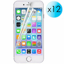 "12x PROTECTORES DE PANTALLA ULTRA TRANSPARENTE PARA iPhone 6 Plus 5.5"" 64 124 GB"