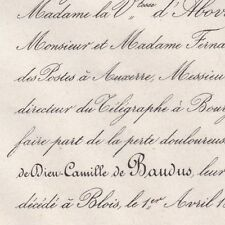 Marie Jean de Dieu Camille De Baudus Blois 1864