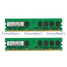 New 4GB KIT (2x2GB) PC2-6400 DDR2 800Mhz NON-ECC 240pin Desktop Memory For Intel