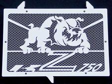 "cache / Grille de radiateur inox poli Kawasaki Z750 07>12 ""Bulldog"" + grill. alu"