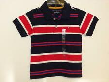 Tommy Hilfiger NWT Boys Blue Red and White Striped Short Sleeve Polo Shirt Sz 4T