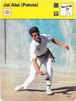 1977 Sportscaster Card Jai Alai ( Pelota ) # 08-16 NRMINT.