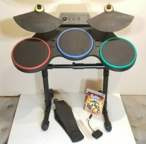 PS2 PS3 Playstation 3 Guitar HeroWorld Tour Drum set Kit+Game **REFURBISHED**