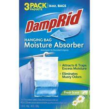 Moisture Absorber DampRid Hanging Bag Fresh Scent 3-Pack 16 oz Closet Bathroom