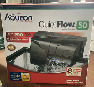 Aqueon QuietFlow LED PRO 50 Aquarium Power Filter up to 50 Gallons