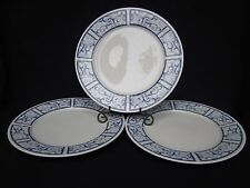 """Oneida"" Dinnerware ""BRETON BLUE"" Pattern 1999 10 5/8"" Dinner Plate 3 Piece Nice"