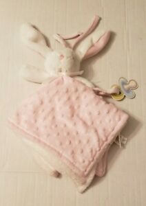 NWT Blankets and Beyond Pink Bunny Rabbit Baby Security Lovey Minky Dot