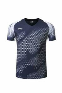 New Li Ning men's sports Tops tennis/badminton Clothes Quick-drying T shirts