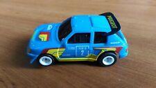 Rare Blue Peugeot 205 #2 Tomy AFX Aurora Tyco Faller H0 Slot Car