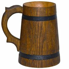 Wooden beer glass mug cup tankard (Oak). Very cool look in the pub. 16.91 fl.oz