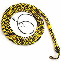 Nylon Para-cord 06 to 16 Foot 16 Strands Bull Whip Professional Bullwhip Leather