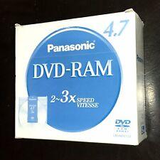 Panasonic DVD-RAM (5-pack) 4.7GB 2~3X Speed (LM-HB47LU) New & Sealed