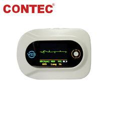 CE CONTEC CMS-VE Visual Electronic Stethoscope ECG Heart Rate+SpO2 Probe, Alarm