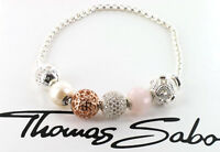 Thomas Sabo Bead Armband KT0003 mit 5 Beads, 925/- Sterling Silber, UVP € 265,00