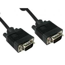 5m Long SVGA Super VGA Male to Male Monitor Cable with Ferrites