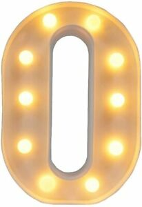 LED Letter Lights Alphabet Light Up Sign for Night Light Home Paled letter O