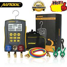 Autool Digital Refrigerantion Manifold Meter Pressure Temperature HVAC Gauge Set