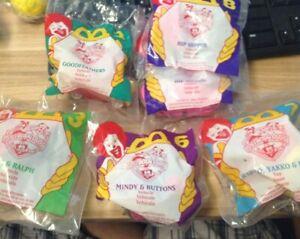 1994 McDonald's Happy Meal Toy Lot (6) Animaniacs NEW 2, 3, 6, 7, 8 Yakko (JY)