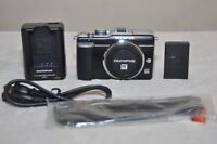 Olympus PEN E-PL1 12.3MP Digital Camera - Black (Body Only) Shutter Count 677
