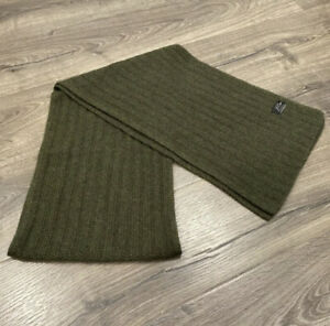 New JCrew 100% Cashmere Ribbed Knit Scarf in Everyday Cashmere Green