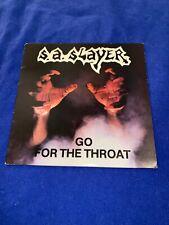 S.A. SLAYER Go For The Throat LP Original 1988 U.S.Pressing Texas Metal
