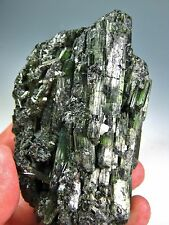 "3.54"" UNUSUAL GREEN TOURMALINE CLUSTER  WITH ALBITE FELDSPAR ACTION  HE 16"