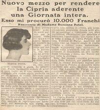 W1670 Cipria PETALIA - Pubblicità del 1926 - Old advertising