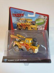 DISNEY PIXAR CARS 2. DELUXE FUNNY CAR MATER. 2011 RELEASE. MATTEL.1.55. BNIB
