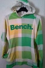 BENCH Pullover Sweatshirt mit Kapuze Kariert Gr. S / 36