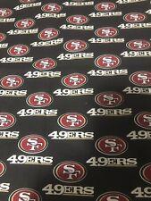 NFL San Francisco 49ers Cotton Fabric 1/4 Yard 9 X 58 SHIPS TODAY