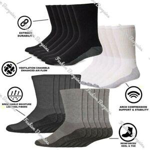 Mens Ventilated Work Socks Anthra Reinforced Cushion Sole Boot Socks  6-11 LoT
