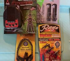Bow Hunting Lot Primal DescenderEzhanger Wrist Sling Rage broadhead crossbow