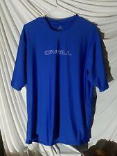 "Oneill ""Skins "" 50+ Upf Protection Exercise/Biking Short Sleeve Shirt xl blue"