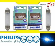 Philips Ultinon LED Festoon 578 Blue 10000K Map License Plate Dome Trunk X 2