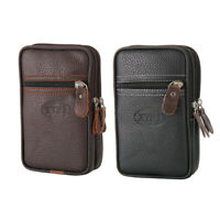 Mens Leather Wallet ID Credit Card Holder Pocket Zipper Coin Purse 10*4.5*16cm