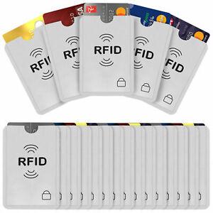 PACK OF 10 - RFID Blocking Sleeve Credit Card Protector Bank Card - UK STOCK