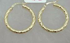 Genuine 18k Solid Saudi Gold Round Hoop Earrings
